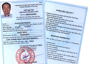 Temporary Residence Card in Vietnam